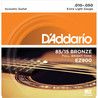 D'Addario EZ900 Cordes en bronze pour guitare acoustique, 85/15, Extra Light, 10-50