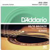D'Addario EZ920 Cordes en bronze pour guitare acoustique, 85/15, Medium Light, 12-54