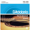 D'Addario EZ940 Cordes en bronze pour guitare acoustique 12 cordes, 85/15, Light, 10-47