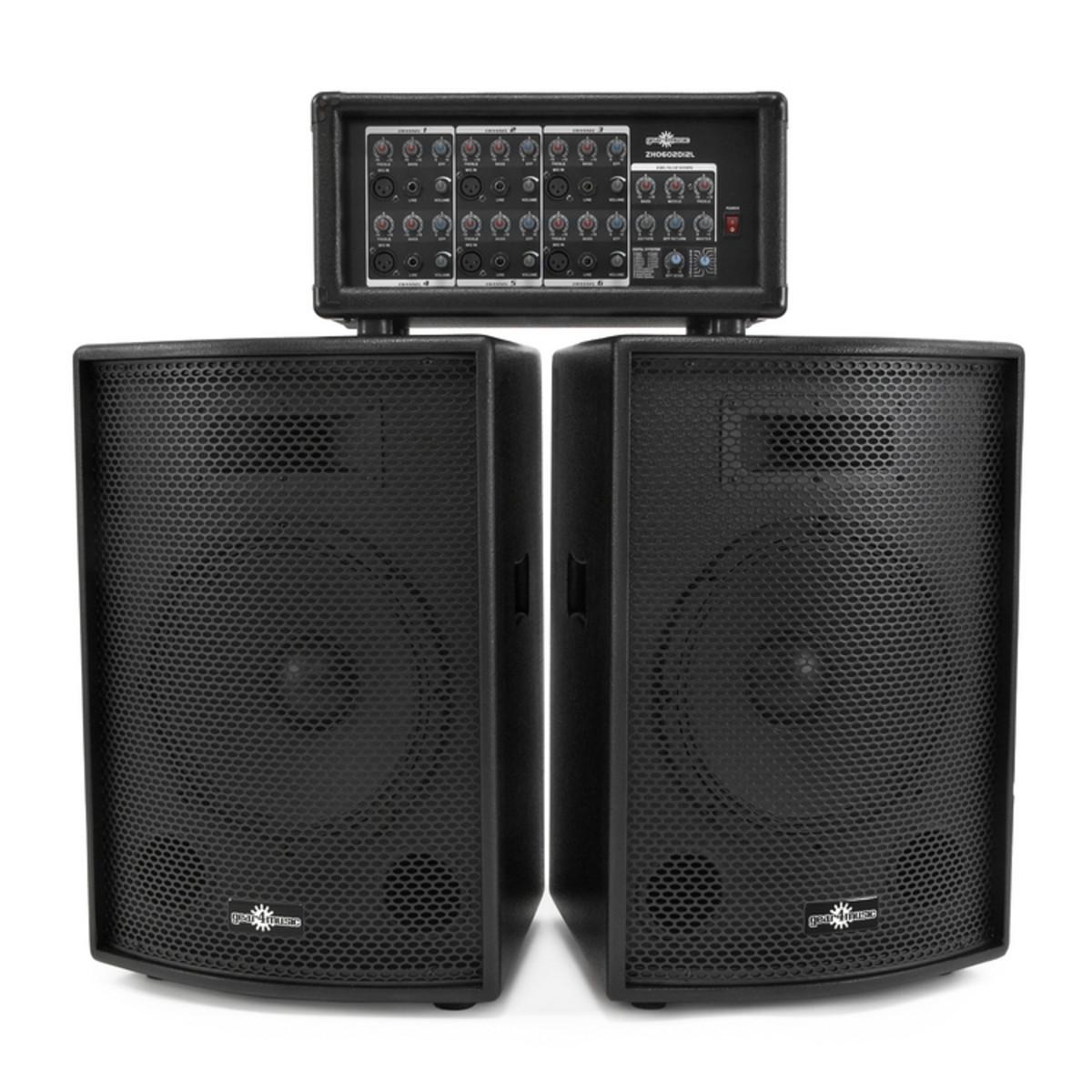 syst me de sonorisation 400w avec table de mixage dsp haut parleurs comme neufs. Black Bedroom Furniture Sets. Home Design Ideas