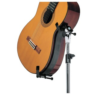 K&M Guitar Performer Stand for Acoustic Guitars, Black