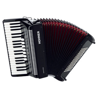 Hohner Bravo III 80 Accordion, Black with Gig Bag