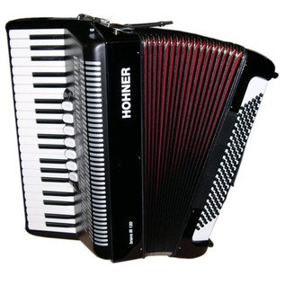 Hohner A1682 Bravo III 120 Bass Accordion, Black with Gig Bag