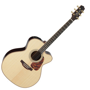 Takamine Pro Series P7JC Jumbo Cutaway Electro Acoustic, Natural