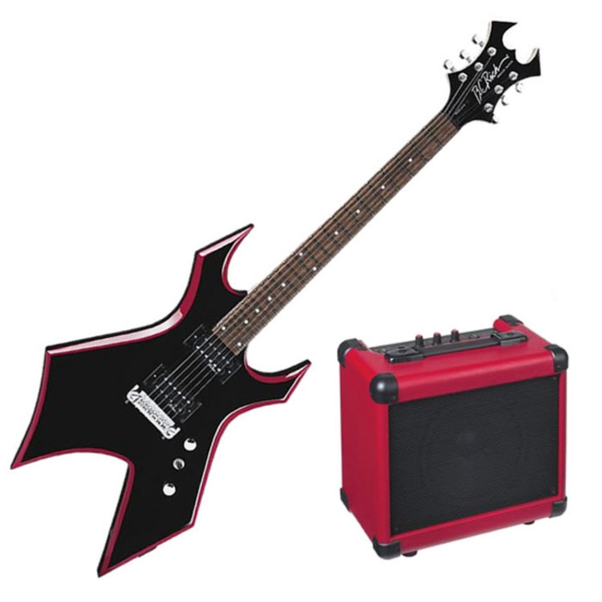 puis bc rich rouge guitare lectrique de biseau warlock. Black Bedroom Furniture Sets. Home Design Ideas