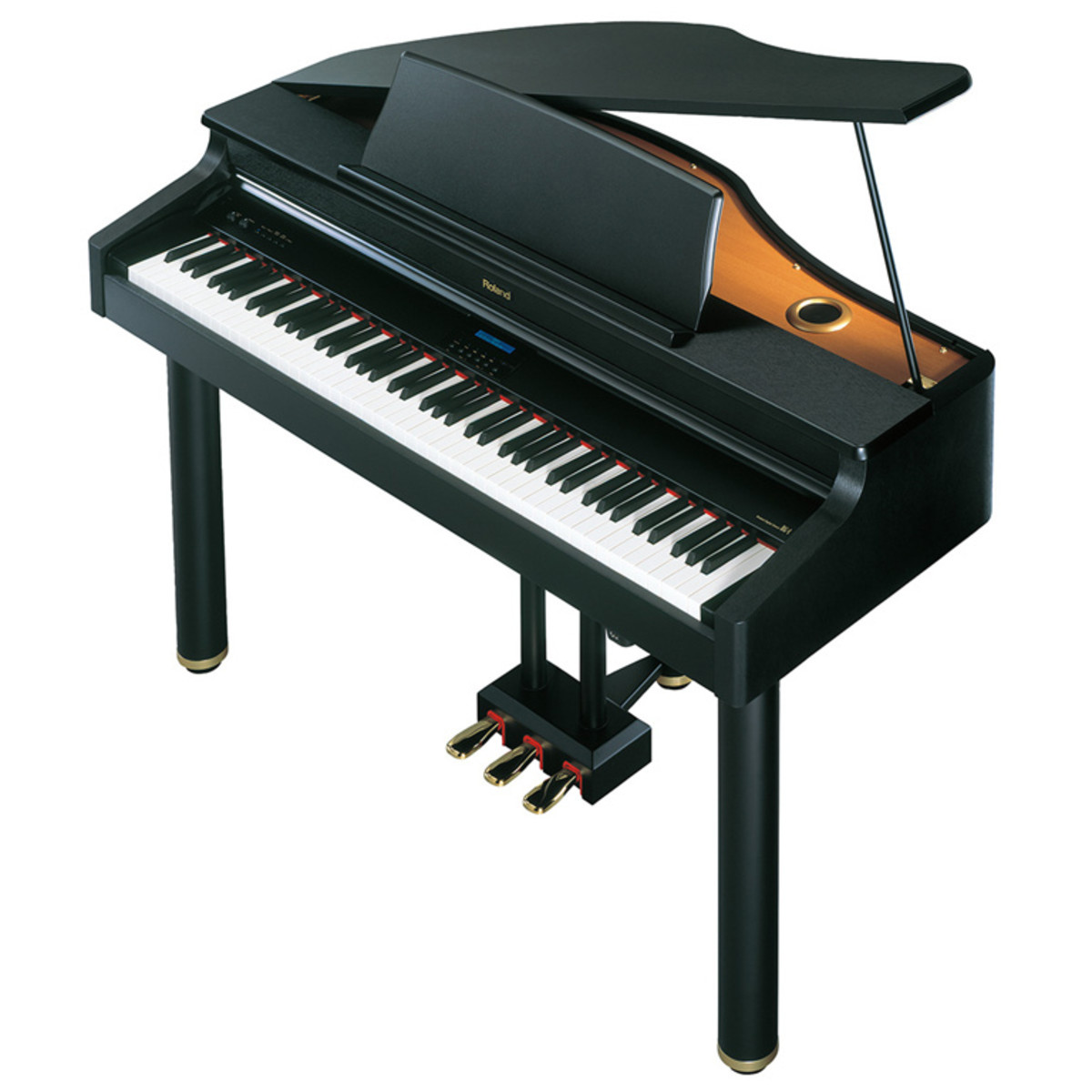 Pianoforte digitale roland rg 1 nero a for Smallest piano size