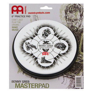 Meinl 6 Inch Practice Pad Benny Greb Design