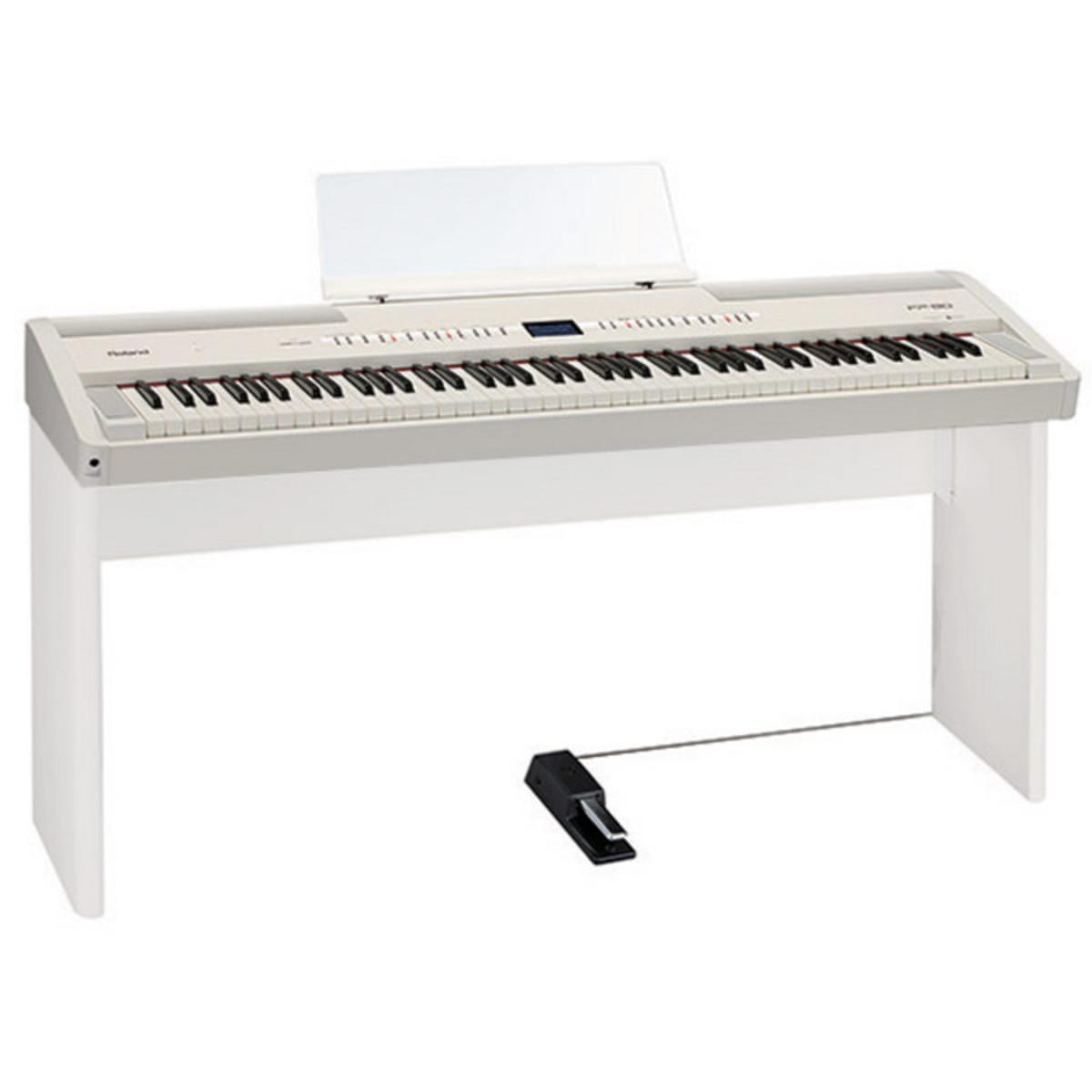 roland fp 80 supernatural digital piano white ex demo at. Black Bedroom Furniture Sets. Home Design Ideas