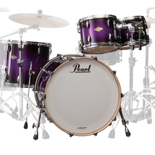 Pearl Masters Maple MCX 22'' Fusion Shell Pack, Purple Sparkle Fade
