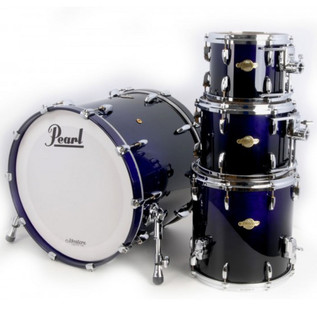 Pearl Masters Premium Maple 22'' Fusion Shell Pack, Midnight Fade