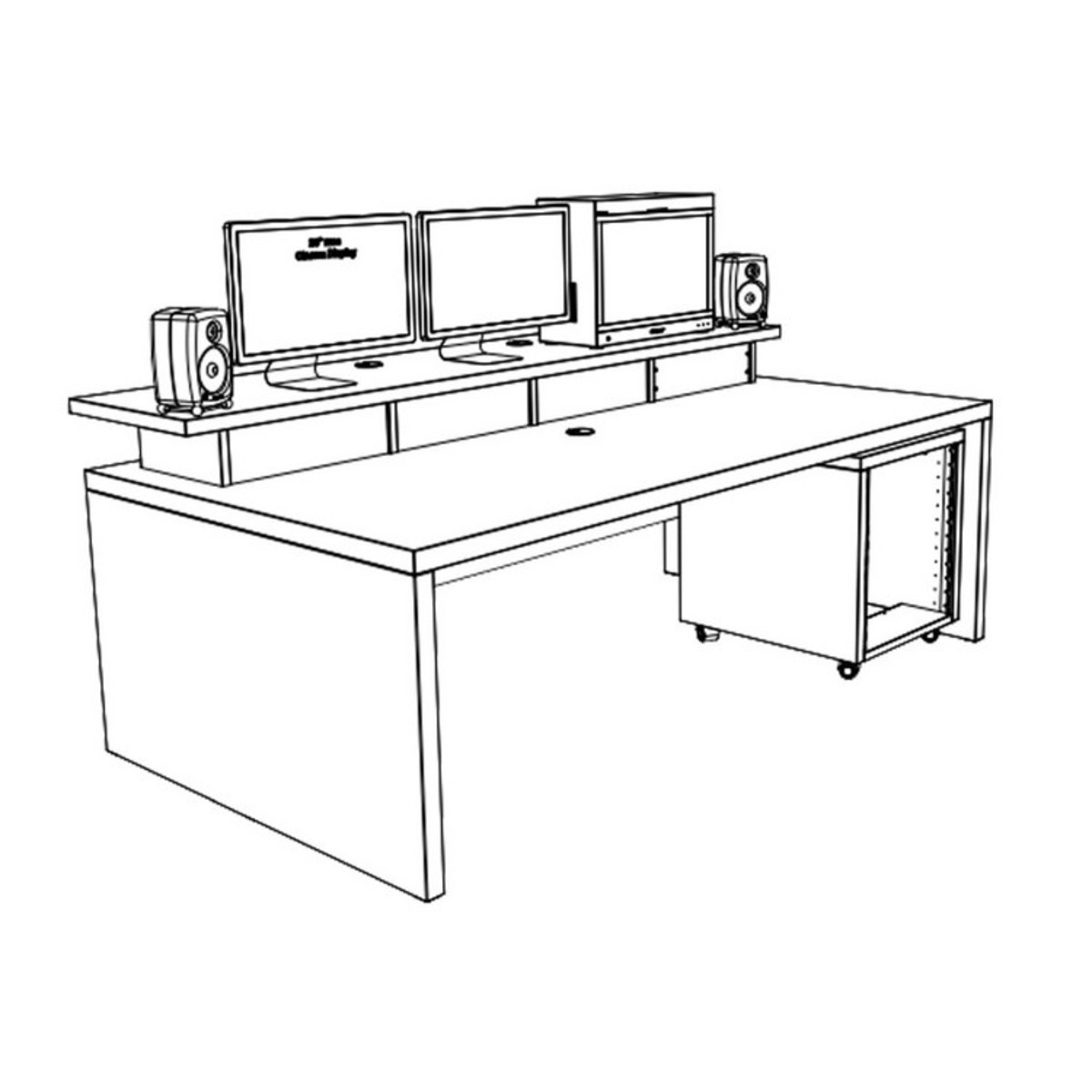 offline wei meine gro en schreibtisch xtra grosse tafel 12he 12u rack und oberen racks auf. Black Bedroom Furniture Sets. Home Design Ideas