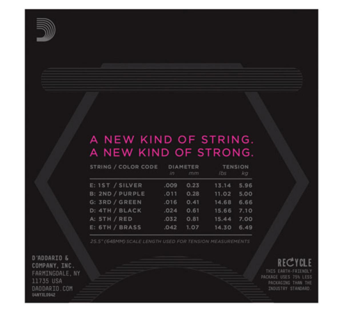 Addario NYXL Electric Guitar Strings, Super Light, 09-42 at ...
