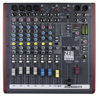 Allen and Heath ZED60-10FX Analog Mixer With USB