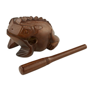 Meinl Medium Wooden Frog, Brown