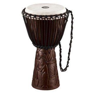 Meinl Professional African Style 10 inch Djembe, Village Carving
