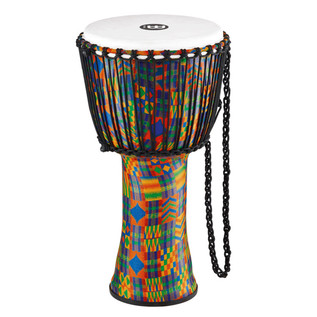 Meinl Travel Series 12 Inch Djembe Synthetic Head, Kenyan Quilt