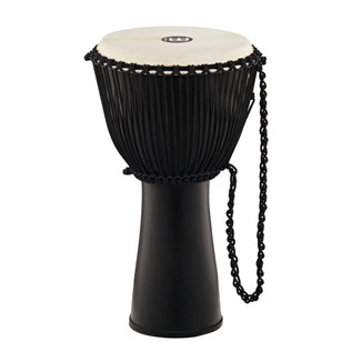 Meinl Journey Series 12 Inch Fibreglass Djembe Goat Head, Black