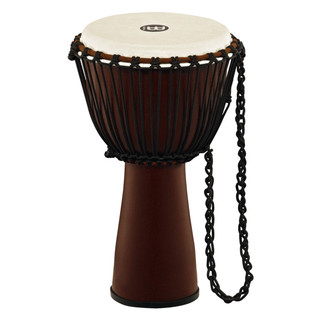 Meinl Journey Series 12 Inch Fibreglass Djembe Goat Head, Brown