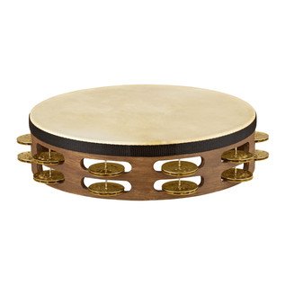 Meinl Vintage Goat Skin 2 Row Tambourine, Walnut Brown