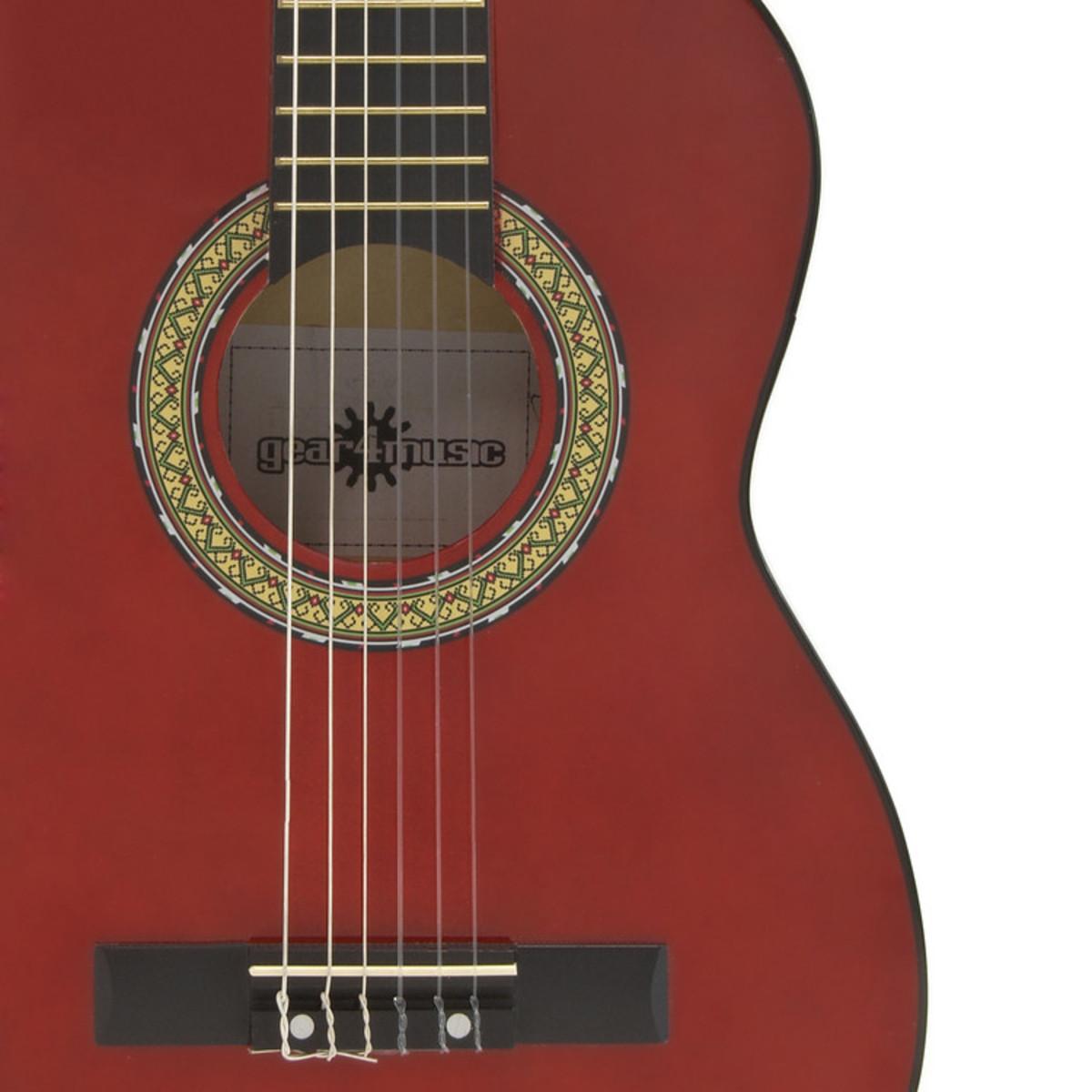 guitare classique junior rouge par gear4music comme. Black Bedroom Furniture Sets. Home Design Ideas
