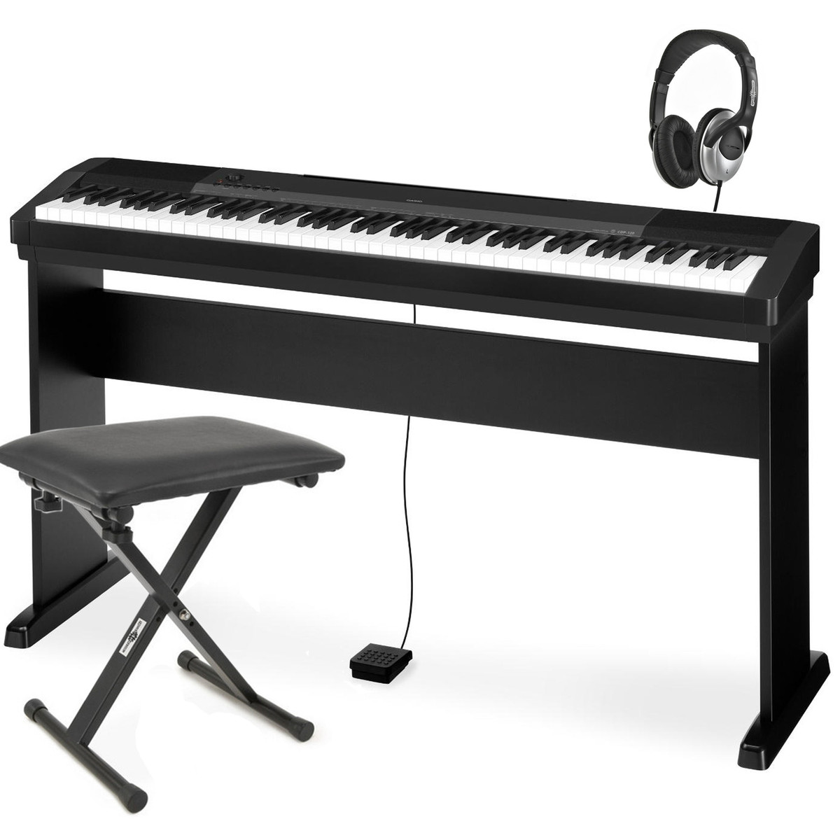 casio cdp 120 digital piano inc stand bench and headphones at. Black Bedroom Furniture Sets. Home Design Ideas