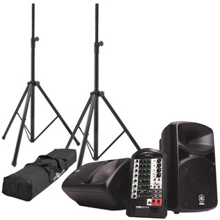Yamaha Stagepas 400i PA System with Speaker Stands Bundle