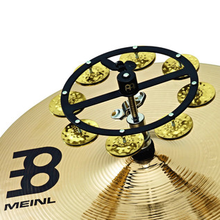 Meinl Headliner Series Hi-Hat Tambourine, 1 Row Brass Jingles, Black