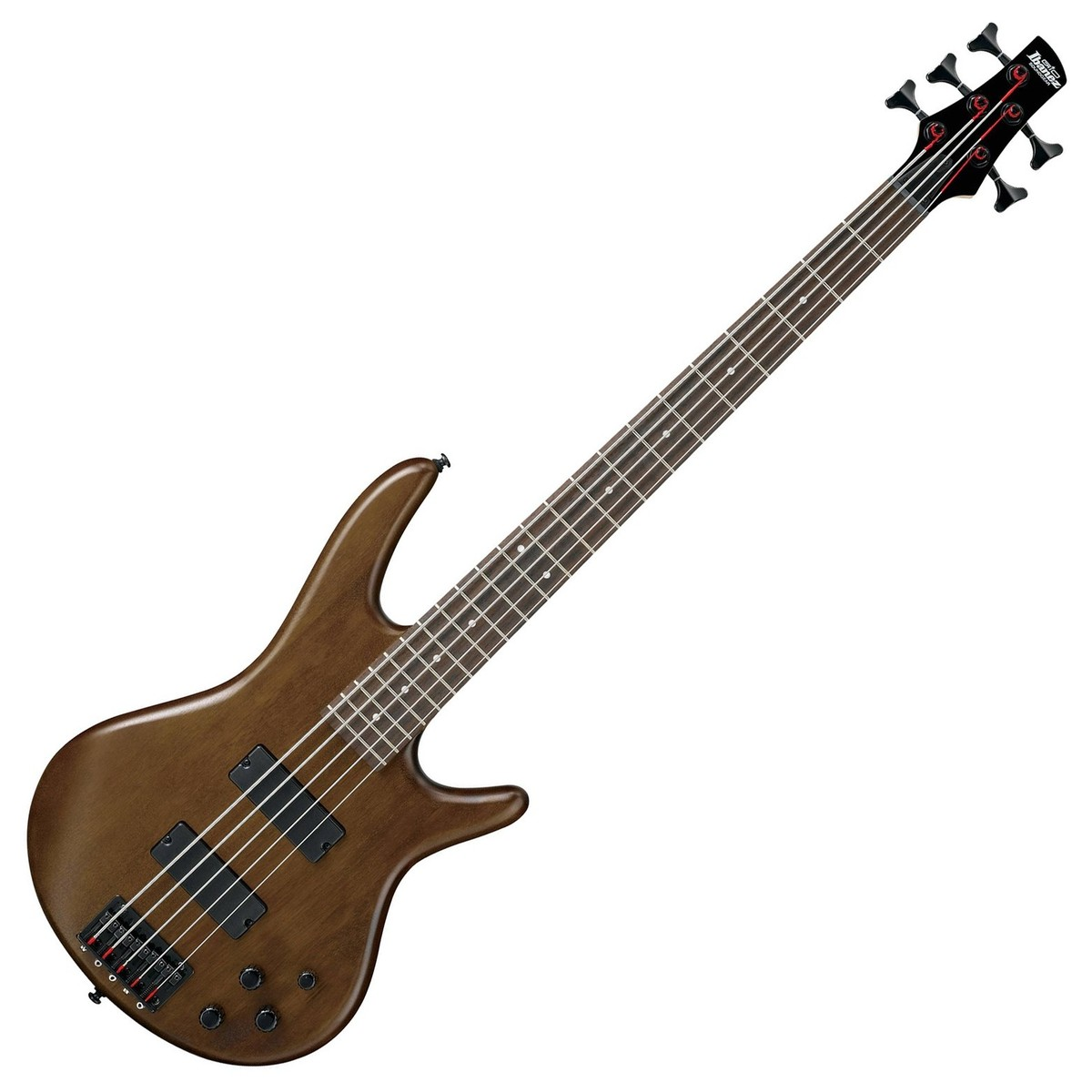 ibanez gio gsr205b 5 string bass guitar walnut flat at. Black Bedroom Furniture Sets. Home Design Ideas