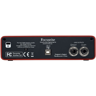 Focusrite Scarlett 2i2 USB Audio Interface