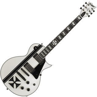 ESP James Hetfield Iron Cross, Snow White