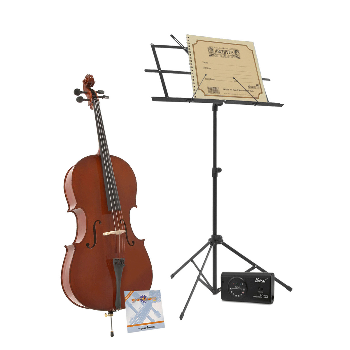 1/2 Student Cello Back to School Pack by Gear4music