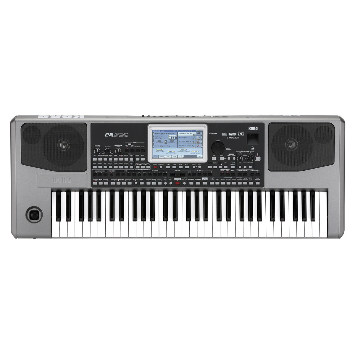 korg pa900 professional arranger keyboard with stand and amplifier at. Black Bedroom Furniture Sets. Home Design Ideas