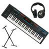 Roland Juno-Di Synthesizer mit Ständer und KRK-6400 Kopfhörer