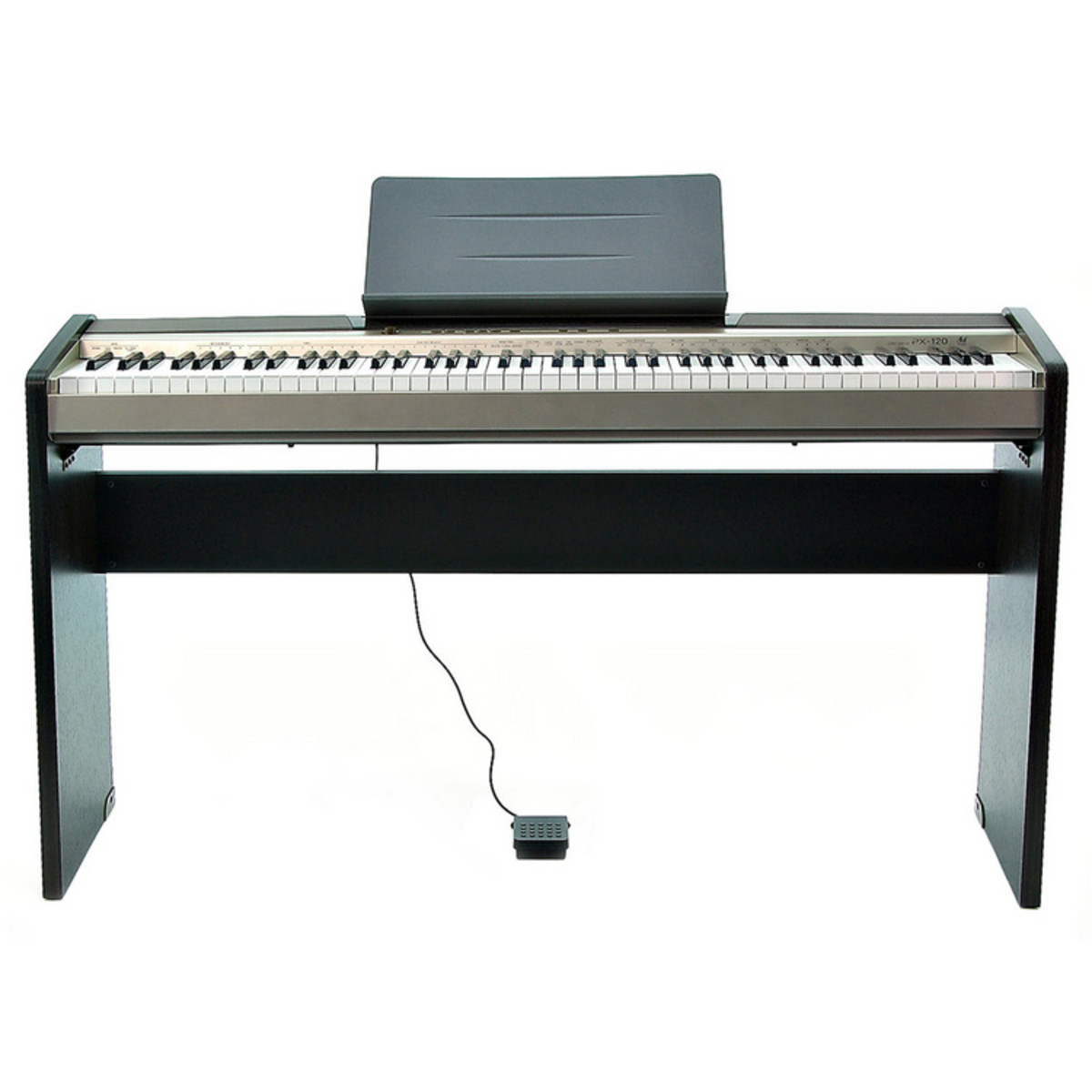 discontinued casio privia px 120 digital piano free stand at. Black Bedroom Furniture Sets. Home Design Ideas