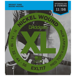 D'Addario EXL117 Nickel Wound, Medium Top/Extra Heavy Bottom, 11-56