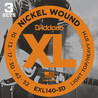 D ' Addario EXL140 Nickel Wound, leichte Top/Heavy Bottom, 10-52 x 3 Pack