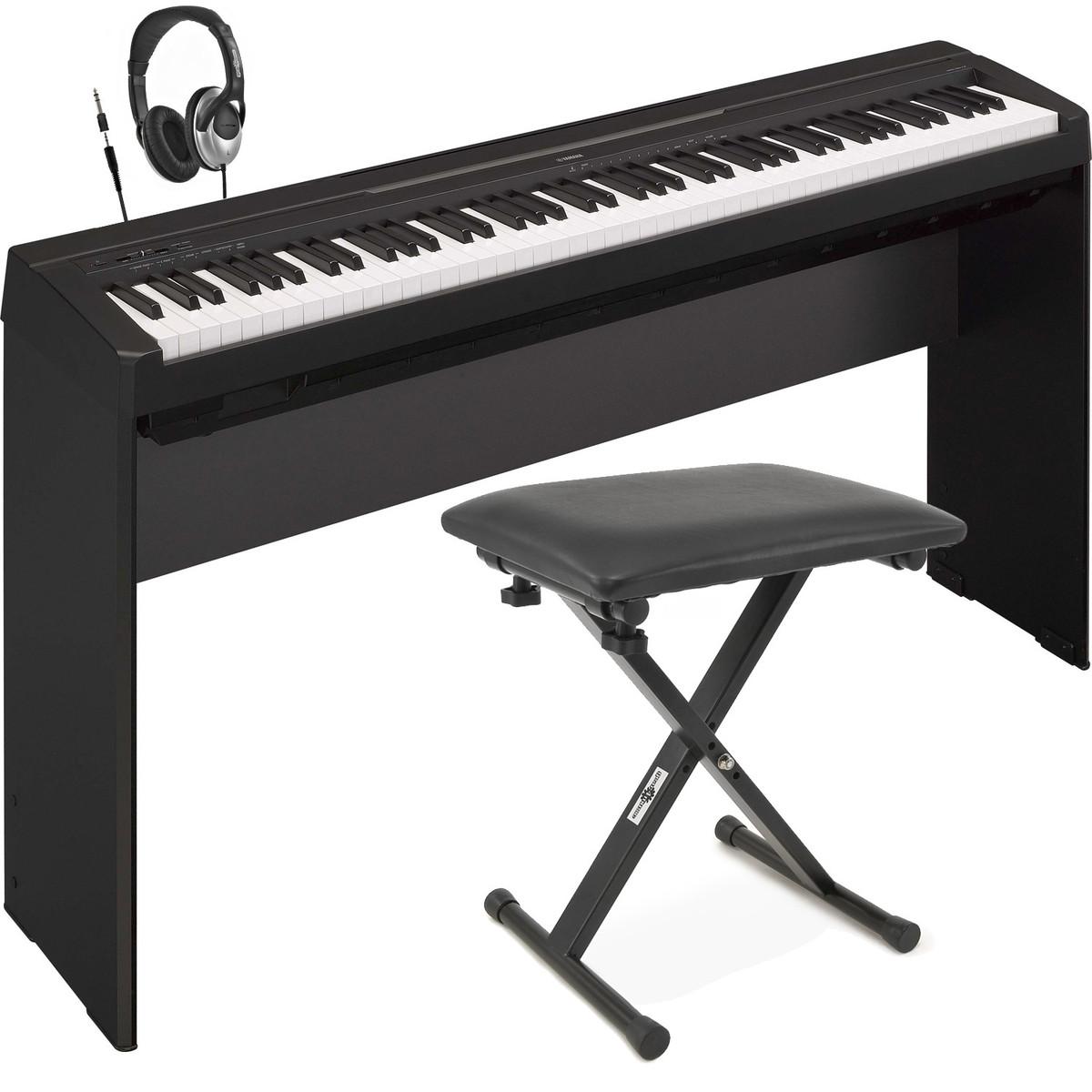 yamaha p35 piano num rique noir avec support tabouret et casque. Black Bedroom Furniture Sets. Home Design Ideas