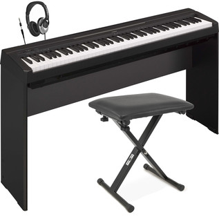 Yamaha P35 Digital Piano, Black with Stand, Bench and Headphones