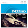 D'Addario J60 Cordes pour banjo 5 cordes, nickel, Light, 9-20