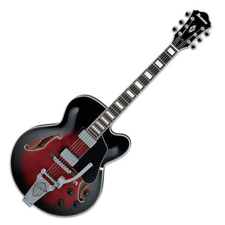 Ibanez AFS75T Artcore Hollowbody Electric Guitar, Trans Red Burst
