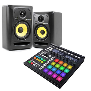Native Instruments Maschine MK II (Black) and KRK Rokit 5 Bundle