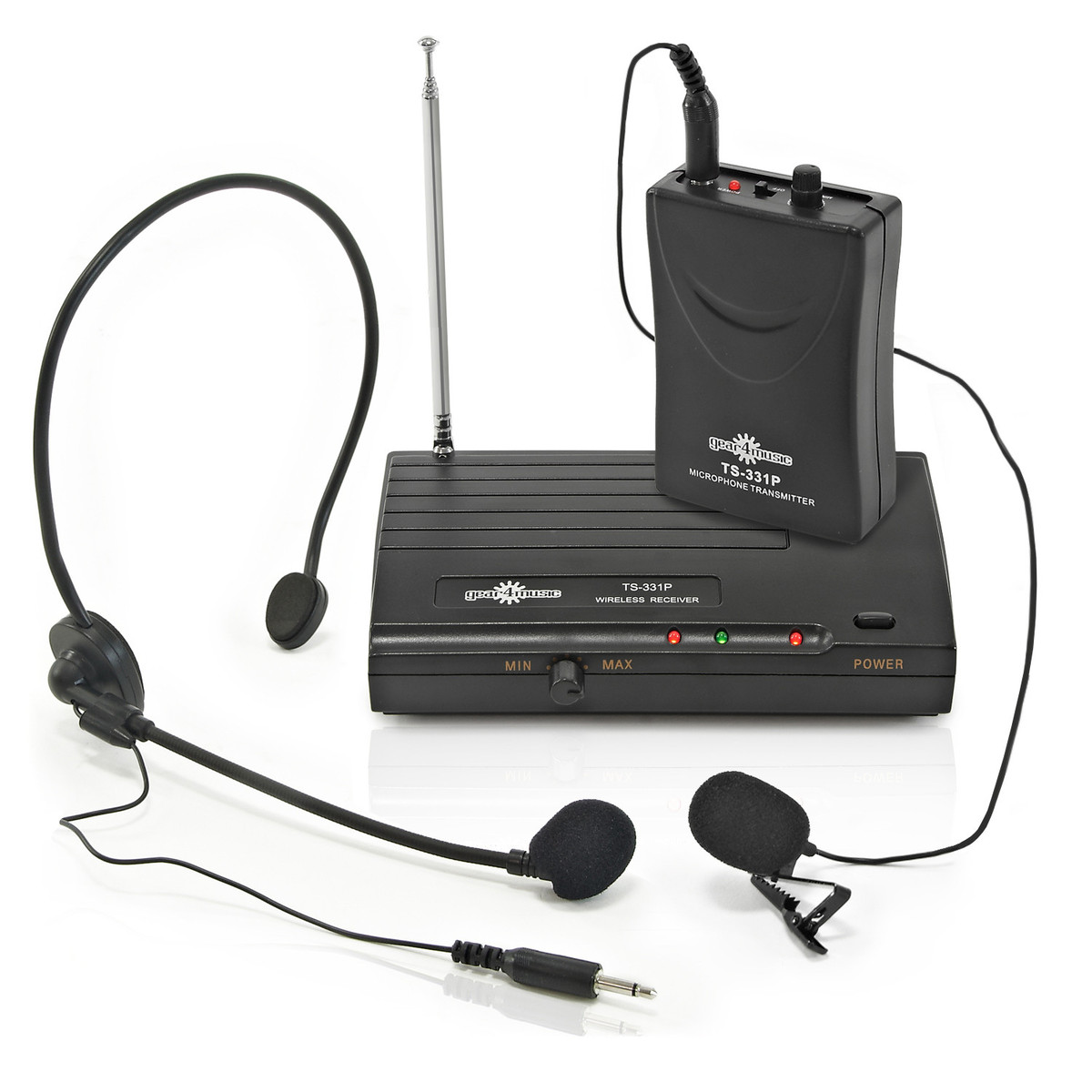 wireless microphone headset and lavalier mic system by gear4music at. Black Bedroom Furniture Sets. Home Design Ideas