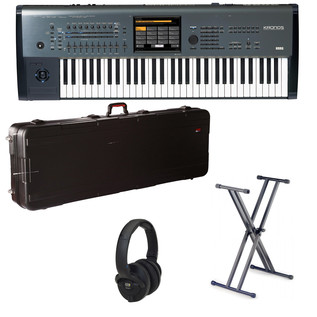 Korg KRONOS-X 61 Key Workstation, with Hard Case, Stand + Headphones