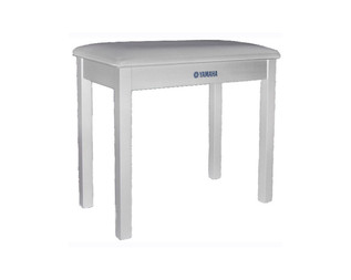 Yamaha Piano Bench, Polished White