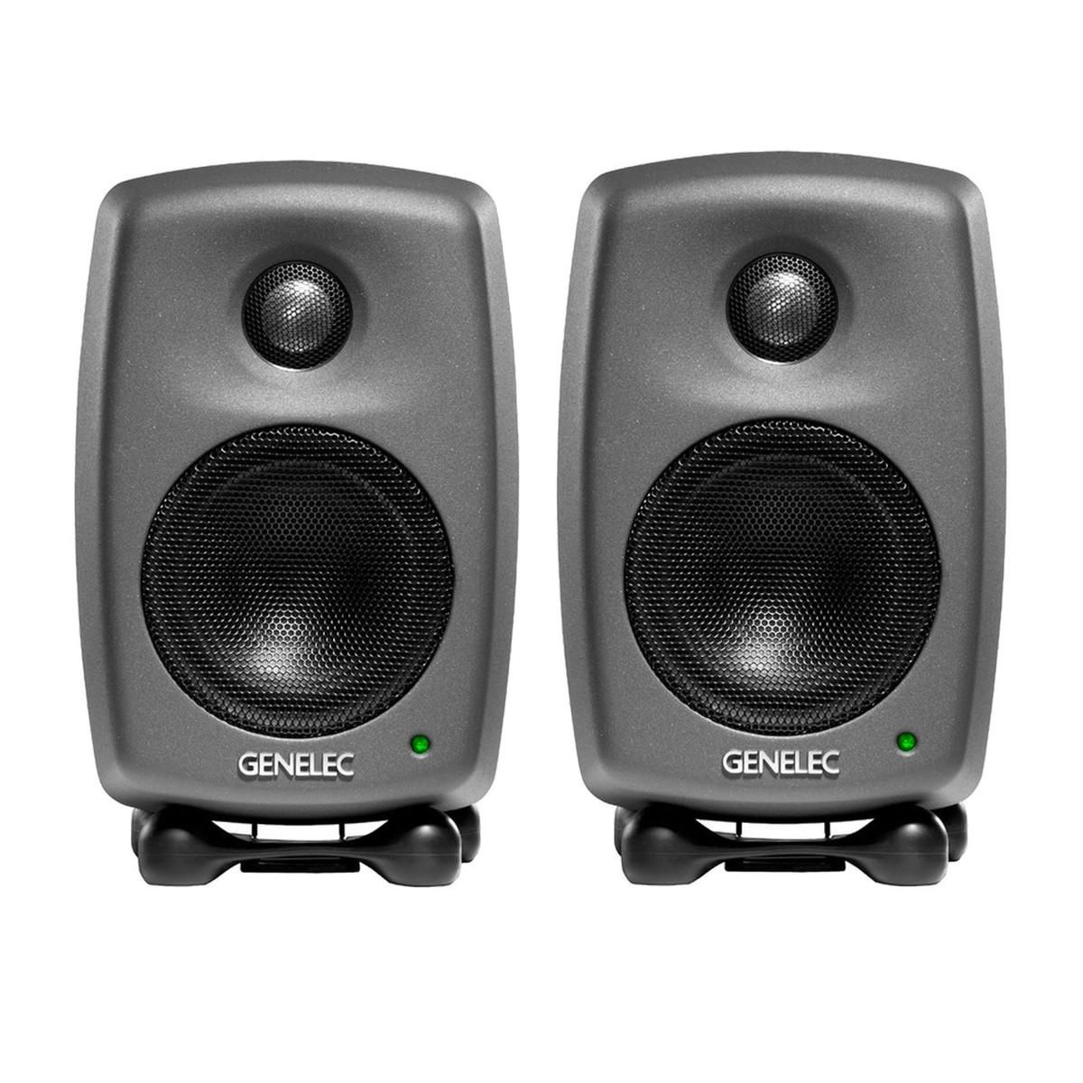 Image of Genelec 8010A Studio Monitors Dark Grey Pair