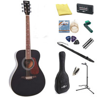 Vintage V300 Acoustic Guitar Black + Perfect Ten Pack