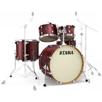 Tama Silverstar Custom Tamo Ash 22 5Pc Shell Pack Satin Mahogany