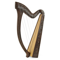29 String Irish Harp with Levers By Gear4music