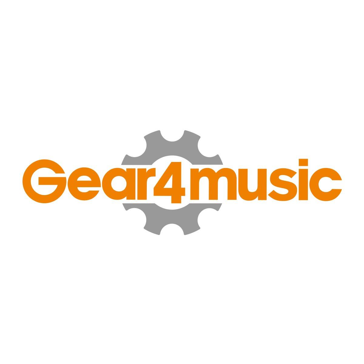 Oregon Neck Thru Bass Guitar + Case by Gear4music Natural