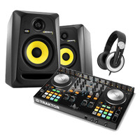 Native Instruments Traktor Kontrol S4 MK2 KRK RP5 and Headphones